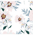 pattern with pink peony flowers and lilies vector image vector image