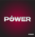 Power text logo vector image vector image