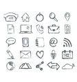 Real Hand draw universal Outline Icons For Web and vector image