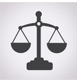 scales of justice icon vector image