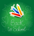 school background with paper elements vector image