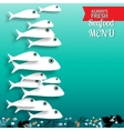 Seafood menu composition with place for your text vector image