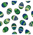 Seamless easter pattern with colorful eggs vector image vector image