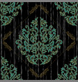 seamless floral damascus wallpaper pattern vector image vector image