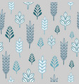 seamless pattern with blue and white winter trees vector image vector image