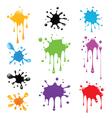 set paint splash vector image