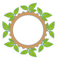 sheet tree round icon vector image