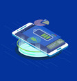 smartphone wireless charging vector image vector image
