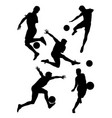 soccer player silhouette 03 vector image vector image
