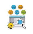 software programming language icons vector image vector image