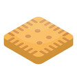 square biscuit icon isometric style vector image vector image