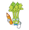 student celery character cartoon style vector image