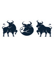taurus zodiac sign ox new year symbol isolated set vector image