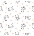 teddy bear plush seamless pattern vector image vector image