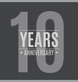 template logo 10 years anniversary vector image