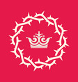 the crown of thorns of jesus christ vector image vector image