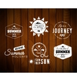 Vintage summer holidays typography design in vector image