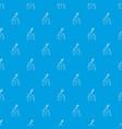 violin pattern seamless blue vector image vector image