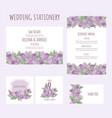 wedding aquilegia stationary flower vector image vector image