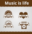 Conceptual icons for music vector image