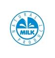 Milk logo vector image