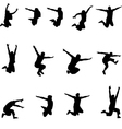 Set of images jumping athlete eps10 vector image
