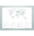 World Map Dotted With Markers vector image