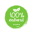 100 natural organic stamp food badge eco nature vector image