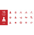 15 law icons vector image vector image