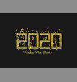 2020 golden numbers vector image