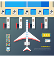 Airport Apron Plane At Jet Bridge vector image vector image