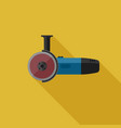 angle grinder flat icon vector image vector image