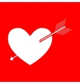 Arrow heart sign vector image