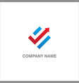 arrow progress sign business logo vector image vector image