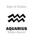 astrology sign of zodiac aquarius the vector image vector image
