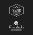 barbershop set labels or emblems vector image vector image