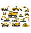 big set construction equipment special vector image vector image