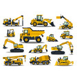 big set of construction equipment special vector image vector image