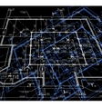 Blueprint abstract dark background vector image vector image