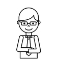 businessman avatar line icon vector image vector image