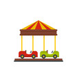 car carousel icon flat style vector image vector image