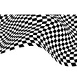 checkered wave flying black white vector image vector image