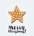 christmas cookies card vector image