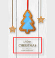 christmas on white wooden background vector image vector image