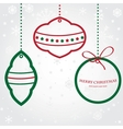 Christmas set of fir tree and evening balls new vector image