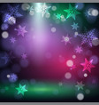 christmas snowflakes on colorful background vector image vector image