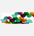 circle abstract background geometric vector image vector image