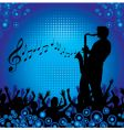 circles crowd hands sax vector image vector image