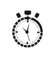 clock logo design vector image vector image