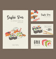 collection of colorful flyer templates with vector image